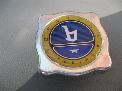 Picture of expansion tank cap with Bertone logo