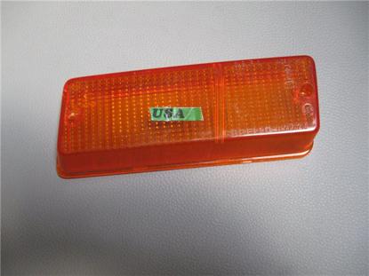 Afbeeldingen van glas knipperlicht 1300, voorzijde links, oranje