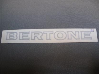 Afbeeldingen van sticker BERTONE 120x12 mm, zilver