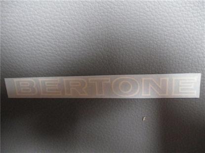 Afbeeldingen van sticker BERTONE 120x12 mm, wit