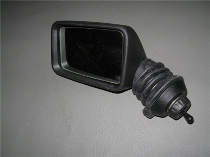 Picture of side view mirror, through glass, left