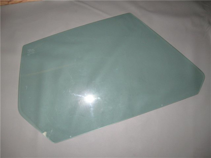 Picture of door window glass, green tinted, right
