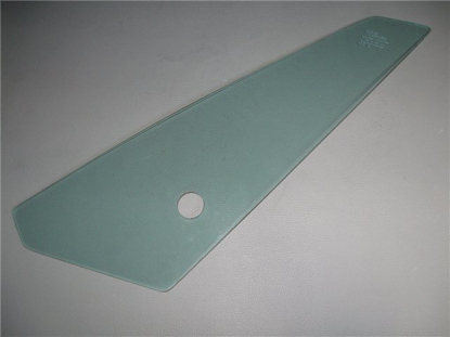 Picture of wing vent window glass, green tinted, left