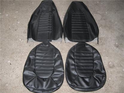 Afbeeldingen van set stoelbekleding 1300, 1973-1975, zwart