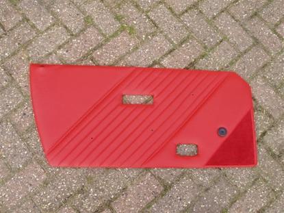 Afbeeldingen van set deurplaten 1500, leder, rood