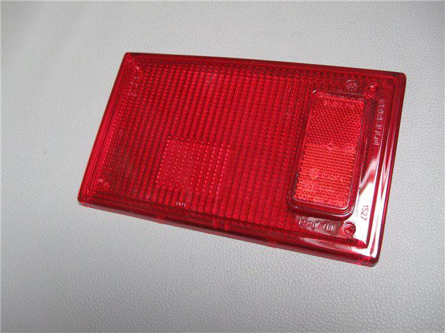 Afbeeldingen van glas achterlicht, rechts, rood