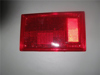 Afbeeldingen van glas achterlicht, rood, links