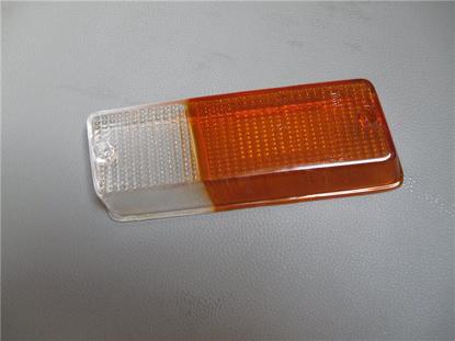 Afbeeldingen van glas knipperlicht 1300, voorzijde links, oranje wit