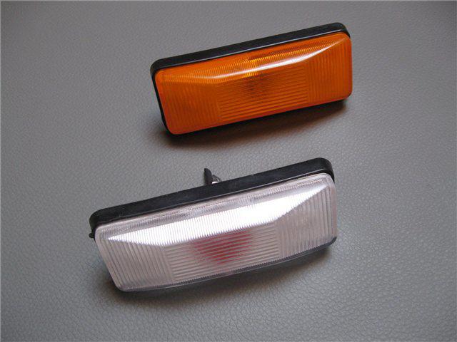 Afbeeldingen van knipperlicht zijkant, oranje