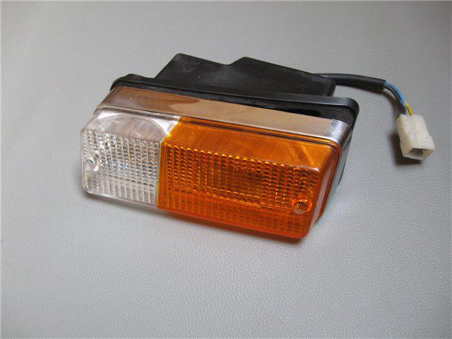 Afbeeldingen van knipperlicht 1300 compleet voorzijde, rechts, oranje/wit