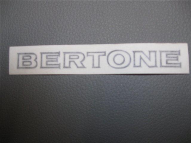 Afbeeldingen van sticker BERTONE 120x12 mm, zwart