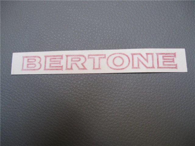 Afbeeldingen van sticker BERTONE 120x12 mm, rood