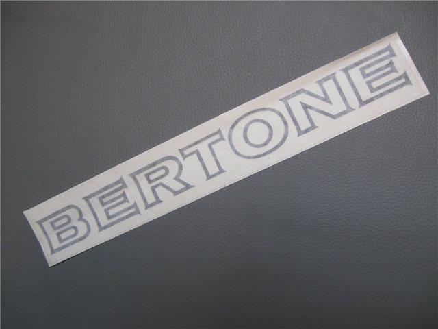 Afbeeldingen van sticker BERTONE 300x25 mm, zwart