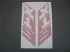 Afbeeldingen van stickers rollbar, vertikaal, rood
