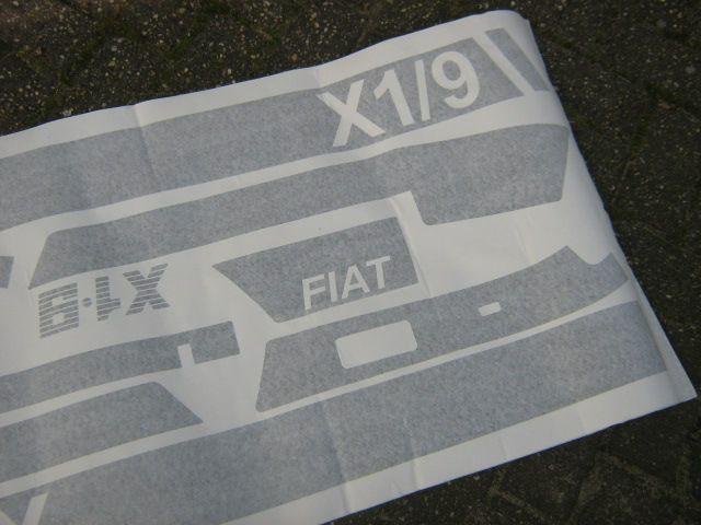Afbeeldingen van stickerset, X1/9, USA