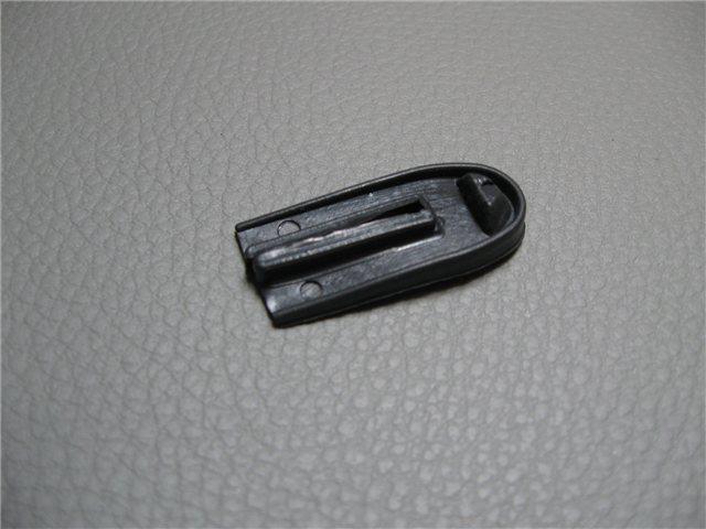 Afbeeldingen van rubber voetje onder sierlijst targabeugel, links of rechts