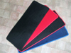 Afbeeldingen van tapijt bagageruimte achterzijde, ZWART met rode rand