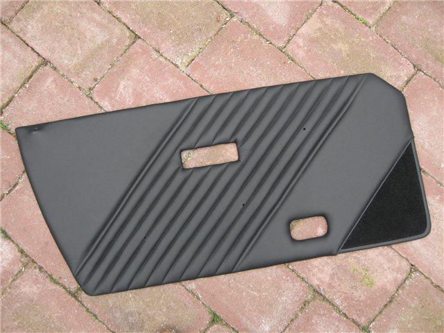 Afbeeldingen van set deurplaten 1500, leder, zwart