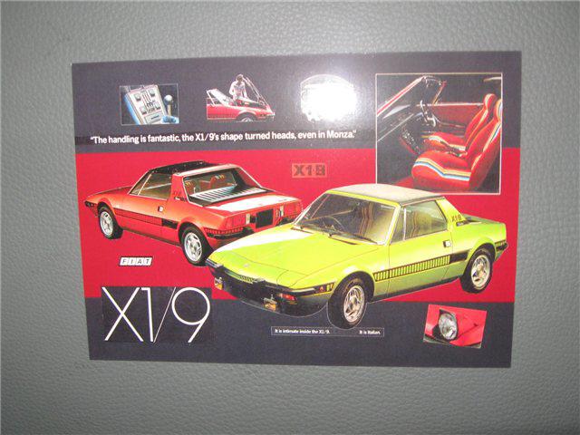 Afbeeldingen van Fiat X 1/9, prentbriefkaart