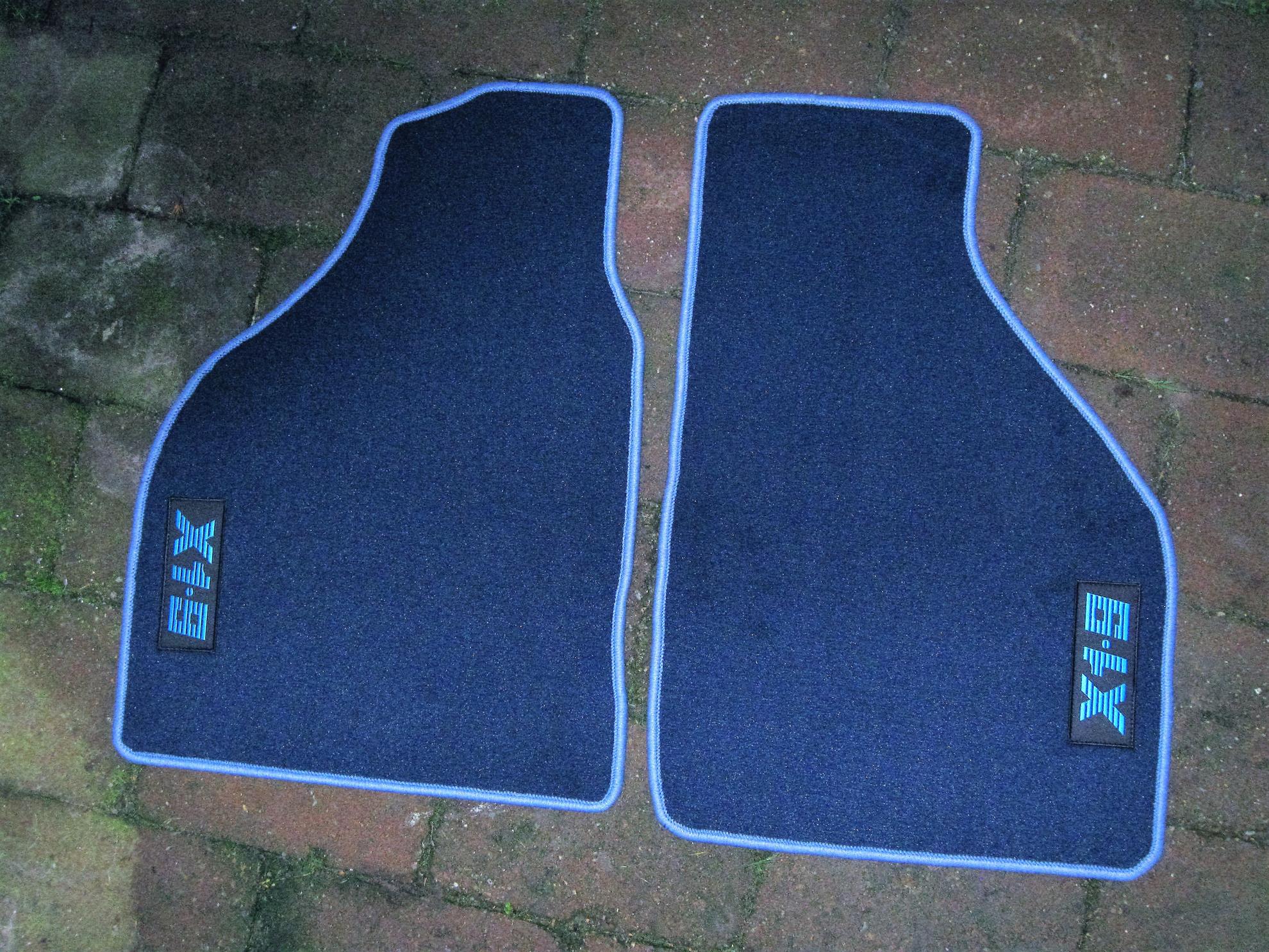 Afbeeldingen van set matten, blauw